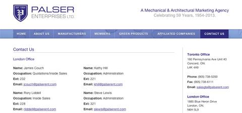 Palser Enterprises Ltd
